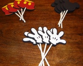 Mickey Mouse Cupcake Toppers - Birthday Supplies, Party Supplies, Party Decorations