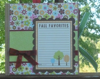 Fall Favorites Mini Scrapbook
