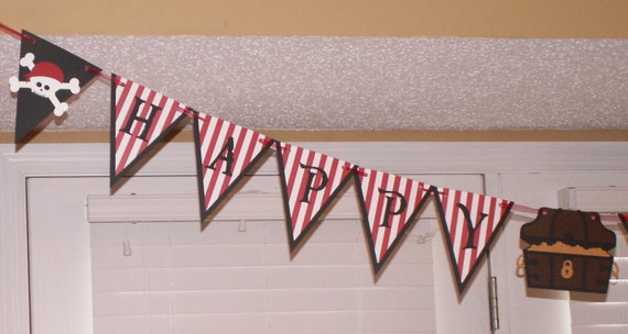Pirate Birthday Banner - party decorations, party supplies