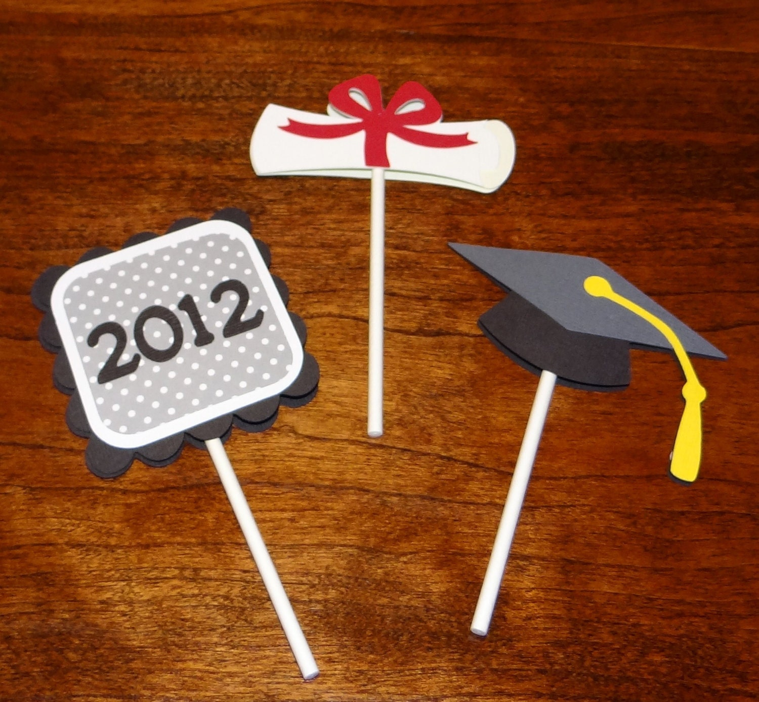Graduation cupcake toppers graduation supplies graduation for Graduation decorations