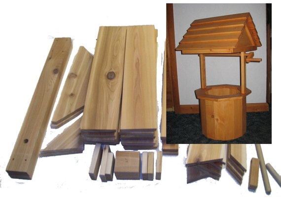 craft wood working kit 33 inch wishing well by. Black Bedroom Furniture Sets. Home Design Ideas