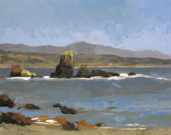 Pigeon Point Lighthouse, CA - original Oil Painting (LD 21)
