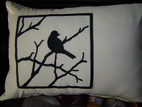 Animal Silhouette Pillow Covers : Bird Silhouette Pillow Cover
