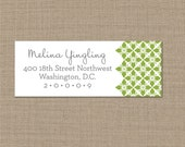 Personalized Green Return Address Labels
