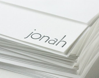 personalized letterpress stationery | jonah