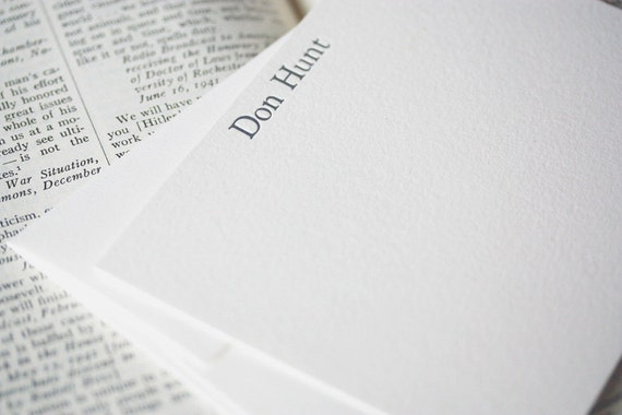 personalized letterpress stationery   don