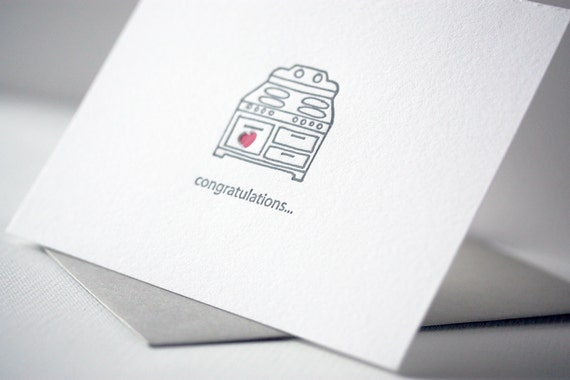 bun in the oven | letterpress greeting card