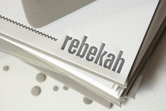 personalized letterpress stationery | rebekah