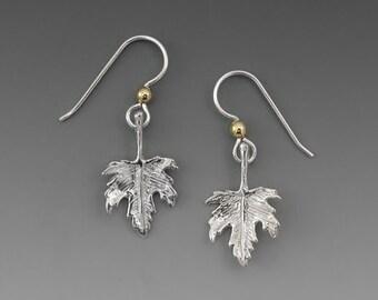 Falling Leaves Maple Leaf Sterling Silver Earrings