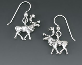 Caribou Sterling Silver Earrings