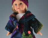 Crocheted Hat, Sweater and Purse for  American Girl Dolls