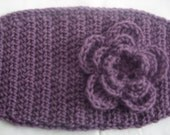Crochet Head Wrap/ Ear Warmer/ Dusty Purple