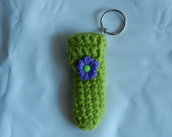 Lime Green Lip Balm Cozy