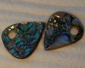 Discount -25%. Handmade natural Rainbow Abalone guitar pick or pendant. Private Collection. Guitar Pick/Guitar Picks
