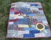 Sunflower patchwork quilt Sale was 80 now 60