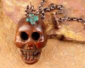 PRIMITIVE SPIRIT Skull and Cross Necklace