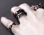 Gunmetal Chunky Chain Link Ring, Set of 2