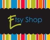 Premade Etsy Banner Avatar Shop Set - Etsy Store Design Package - Rainbow Stripes Design