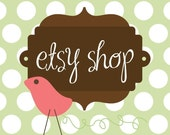 Etsy Banner Avatar Shop Set - Etsy Premade Design Package - Fancy Bird Design