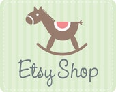 Etsy Shop Banner Avatar- Etsy Premade Design Package - Etsy Banner - Rocking Baby Horse Design