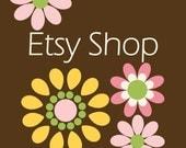 Etsy Shop Banner Avatar Design Set - Etsy Banner - Premade Design Package - Blooming Pink Yellow Flowers Design