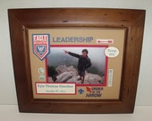 Eagle Scout Photo Keepsake - Personalized - 8x10 Unframed Insert - Cub Scouts, Boy Scouts, Girl Scouts Available too