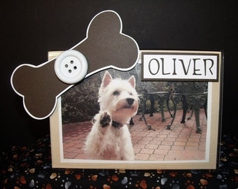 Dog Picture Frame Personalized - Acrylic Frame for 5x7 or 4x6 Photo Any Colors You Specify