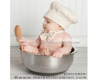 Chef Hat, Photo Prop Hat, Theme Hats, Organic Hat