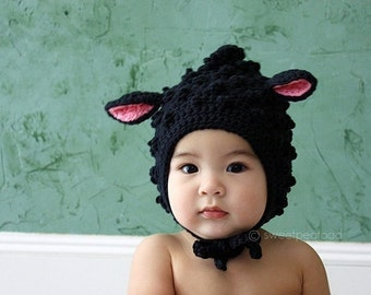 Lamb Hat, Animal Hat for Kids, Babies Winter Hat