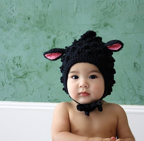Little Lamb Hat For Him (Cotton) - size from 3mos to 5T