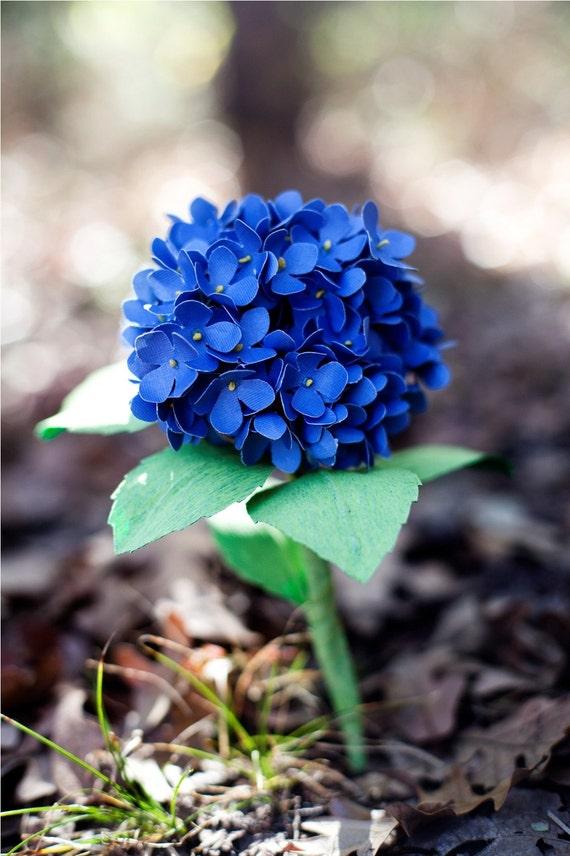 paper hydrangea - paper flower for wedding, gift, or decor
