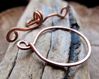 Large Toggle Clasp - Handmade Copper Circle T-Bar Clasp for Necklace - Artisan Jewelry Supplies