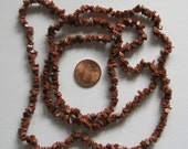 Brown goldstone small chip strand, to use as chip beads, lampwork frit or ready made necklace