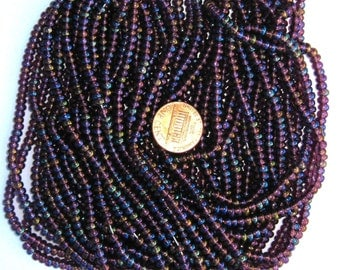 Czech Jablonex Ornela Preciosa seed beads, amethyst AB, 6/0, full hank