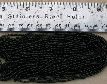 Czech Jablonex Ornela seed beads, dark olivine, 11/0, full hank