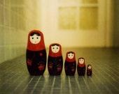 Russian Dolls 6 x 6 Print