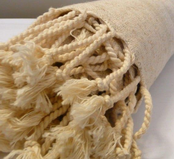 Linen Towel ,Natural ,..LINEN PESHTEMAL..Turkish Towel