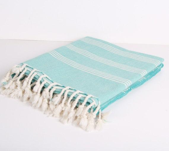 Bath Towel /Beach Towel...PESHTEMAL turquoise