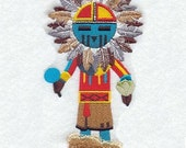 SUN KACHINA DOLL - Machine Embroidered Quilt Block(AzEB)