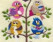 SHOPPING TWEET - - Machine Embroidered Quilt Block (AzEB)