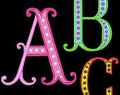VEGAS - 78 Machine Embroidery Font Designs Instant Download 4x4 5x7 6x10 hoop (AzEB)