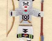 BUFFALO WARRIOR KACHINA Doll - Machine Embroidery Quilt Block (AzEB)