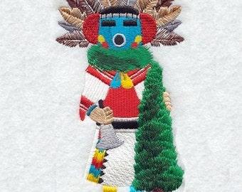 EARLY MORNING KACHINA Dolls - Machine Embroidered Quilt Block (AzEB)