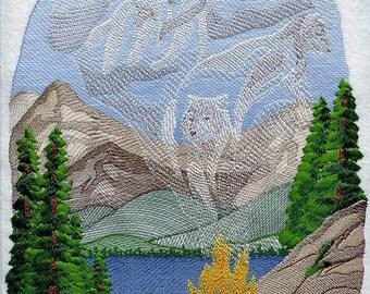 WOLF SPIRIT SMOKE - Machine Embroidery Quilt Blocks (AzEB)