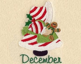 SUNBONNET SUE MONTHS of the Year (December) - Machine Embroidery Quilt Block (AzEB)