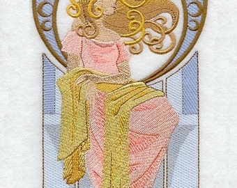 LADY ARIA - Machine Embroidery Quilt Block (AZEB)