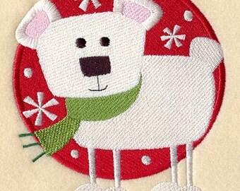 BENNIE BEAR - Machine Embroidery Quilt Block(AzEB)