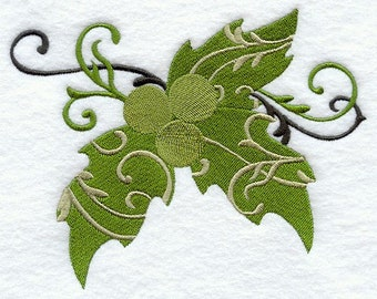 FILIGREE HOLLY - Machine Embroidery Quilt Block (AzEB)