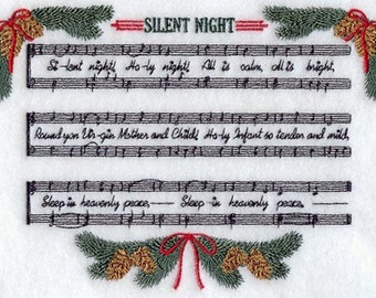 SILENT NIGHT(small) - Machine Embroidery Quilt Block (AzEB)