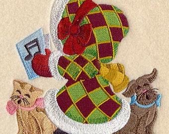 SUNBONNET SUE CHRISTMAS Choir - Machine Embroidery Quilt Block (AzEB)